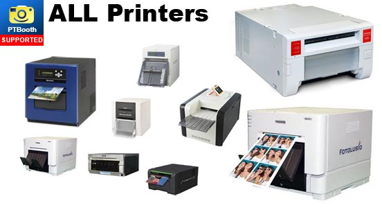 All Printers are supported by PTBooth custom photo booth software