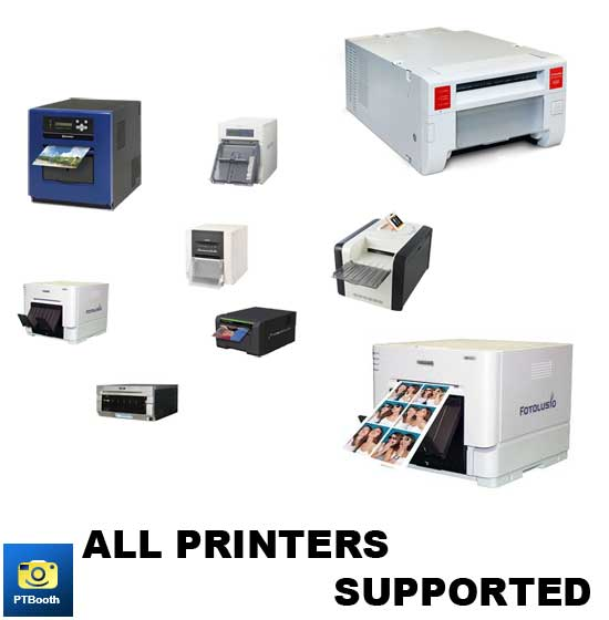All Printers are supported by PTBooth A1 PLUS