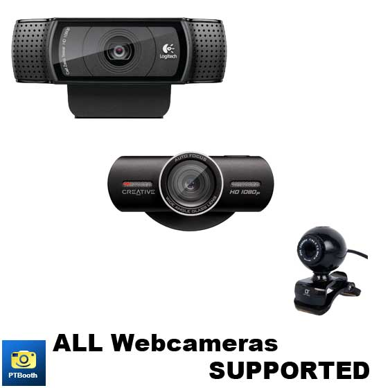 All Webcameras are supported by PTBooth A1 PLUS